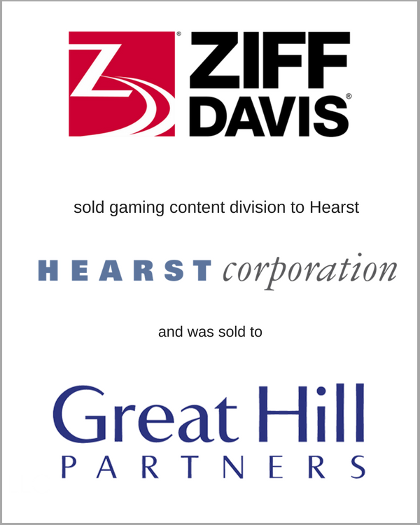 ZIFF Davis sold gaming division to Great Hill Partners and was sold to Great Hill Partners