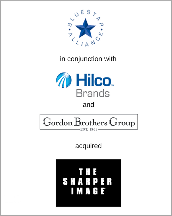 Gordon Brothers, BlueStar Alliance, & Hilco Brands acquired SHARPER IMAGE