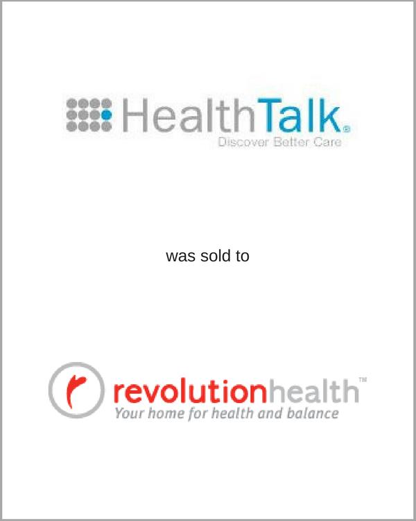 HealthTalk was sold to Revolution