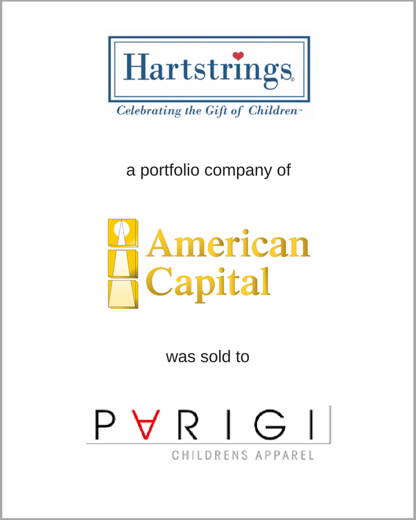 Heartstrings, a portfolio company of American Capital, was sold to PARIGI