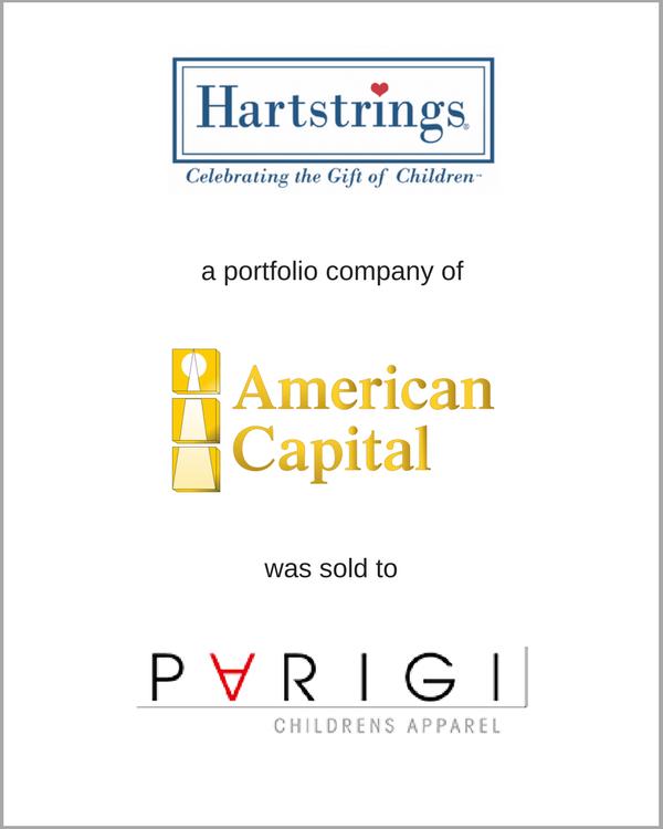 Heartstrings, a portfolio company of American Capital, was sold to PARIGI