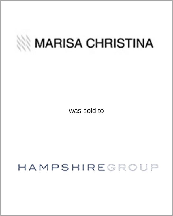 MARISA CHRISTINA was sold to HAMPSHIRE GROUP