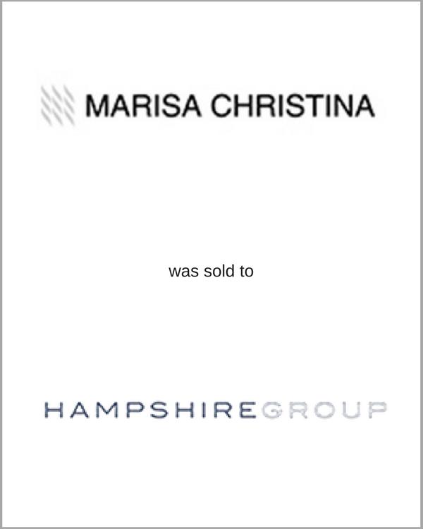 MARISA CHRISTINA was sold to HAMPSHIRE GROUP