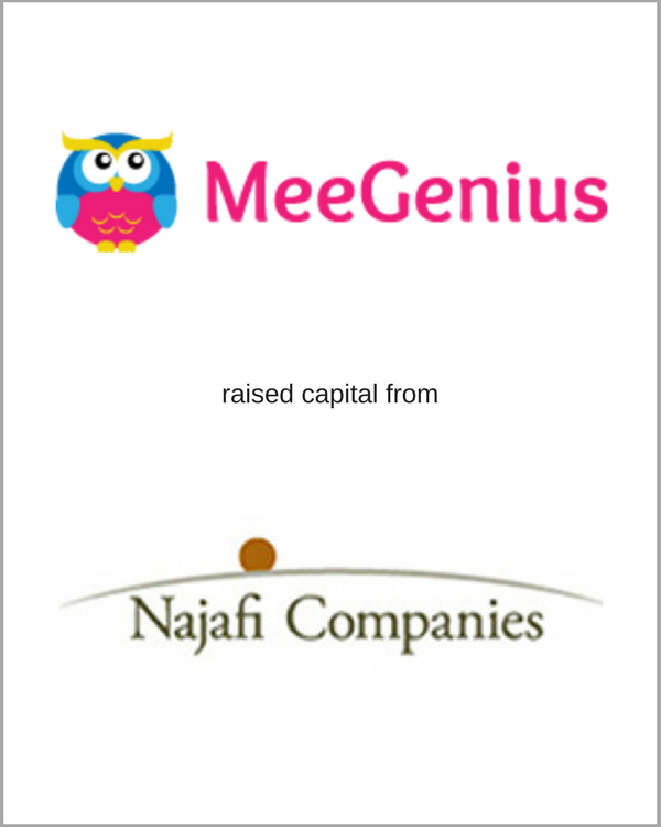 MeeGenius raised capital from Najafi Companies
