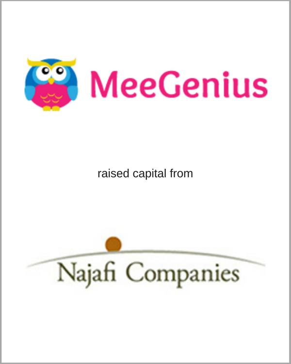MeeGenius raised capital from Najafi Companies