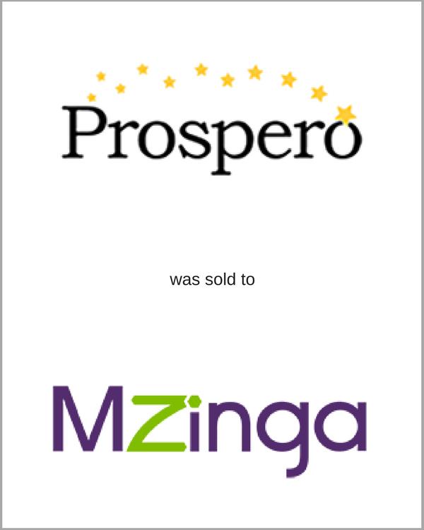 Prospero was sold to MZinga